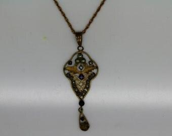 VINTAGE VICTORIAN ART Deco Necklace