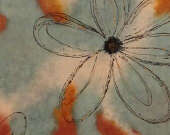 Blue flower canvas