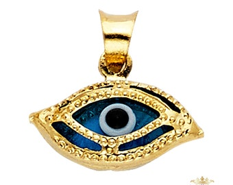 Evil Eye Pendant, 14K  Yellow Gold  Evil Eye Pendant - Top Gold & Diamond Jewelry