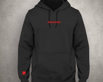 Paranoid - Black Hoodie - Red - Anti Social Social Club - Tally - Free UK Delivery!