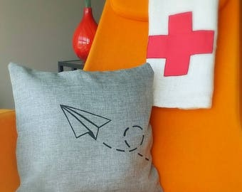 Paper Plane Cushion Cover