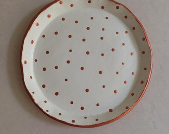 Copper Polka Dot Trinket Tray