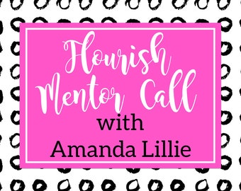 Flourish Mentor Call with Amanda Lillie - Craft Show or Digital Sale Mentor Session - 30 Minute Session - 60 Minute Session