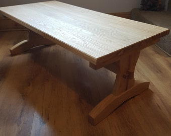 Handmade solid oak coffee table.