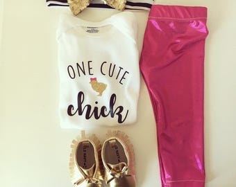 One cute chick Easter onesie | shirt