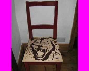 Chair lion head