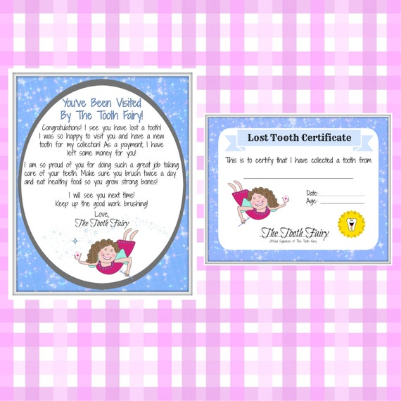 Tooth fairy letter lost tooth child baby milestone letter for Fairy letters to child