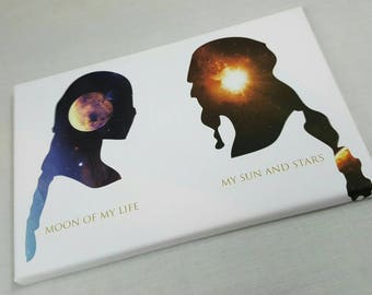 Moon Of My Life, My Sun And Stars A4 Size Game Of Thrones Canvas