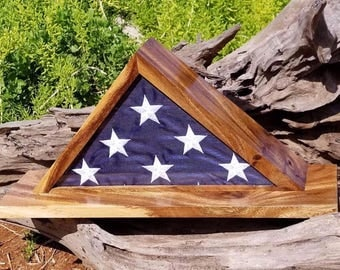 Flag, flag case, wood, crafts, military
