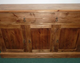 Stunning Refurbished/Waxed Solid Pine Side Board, with Shelves, storage unit