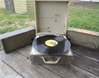 Vintage Westinghouse Suitcase Record Player