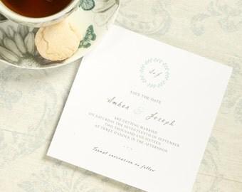 Leafy Charm // customisable elegant wedding save the dates
