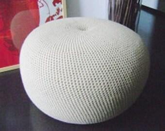 Large Crochet Pouf Poof, Ottoman, Footstool, Home Decor, Pillow, Bean Bag, Floor cushion Pouffe