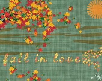 Fall in love - illustration