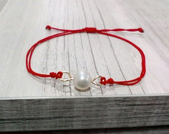 Red Thread Bracelet, Protective Pearl