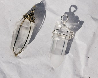Mini Quartz Point Pendant