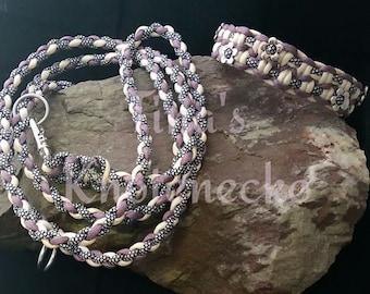 Collar and matching leash set
