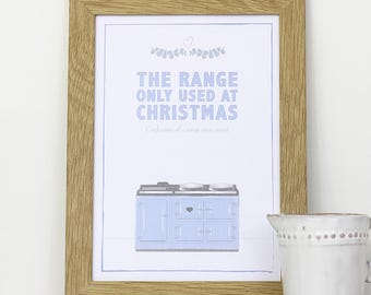 A4 framed wall print for your kitchen – The range, only used at Christmas