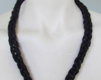 Hand Knit and Silver Multi Way Infinity Necklace