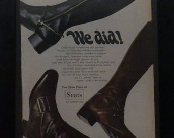 Boots, Vintage Ad, Women's Boots, Sears, 1969