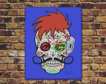 SKULL ANIME / Comics - Cartoons / digital illustration, canvas art, wall decor, retro pop art by Ismaelo (Toledo-Spain)