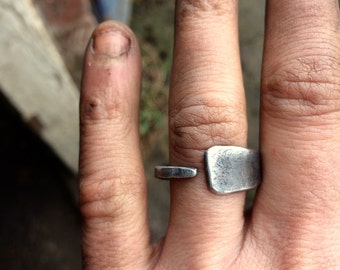 Hand forged iron ring