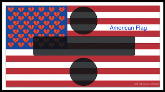 American Flag Custom Design Divided Country Color Vinyl Sticker Decal x 2
