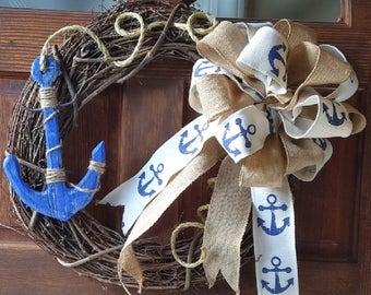 Blue Anchor Wreath