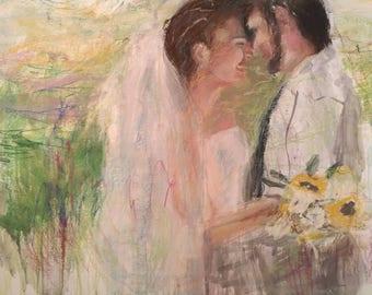 Custom Wedding Painting on Canvas