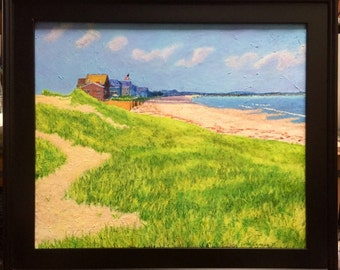 """Rexhame Beach - original oil painting on linen, 20"""" x 24"""" - signed - 2017"""