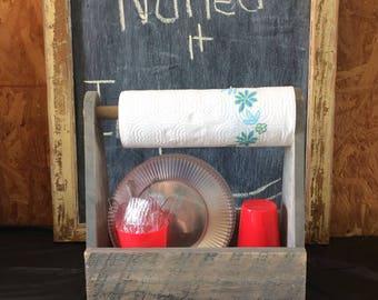 Wooden Paper Towel Holder/Table server
