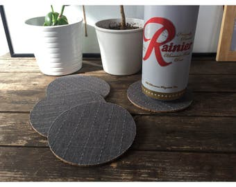 Coaster - Fabric and Cork