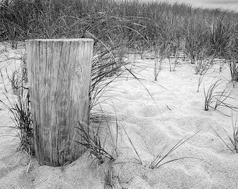 Cape Cod Beach black and white photography fine art photograph Hyannis Massachusetts beach Cape Cod home decor wall decor sand print