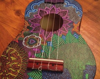 One Off Gaia Connection Hand Painted Ukulele