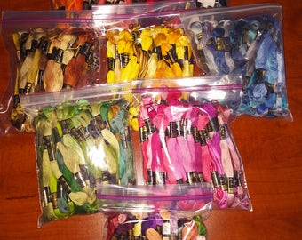 Embroidery floss, assorted colors