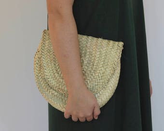 Straw Clutch, straw bag, beach bag, handbag, boho, summer bag.