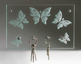 """Butterfly""-modern glass key"