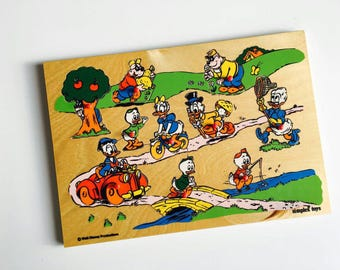 Jigsaw wood vintage Disney puzzle kindergarten playground school motive