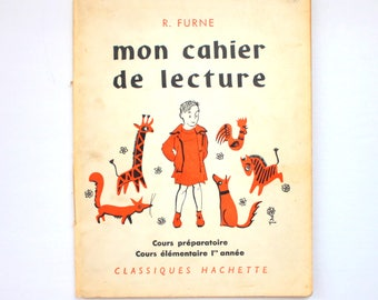 Vintage French Exercise School Book Mon Cahier de Lecture