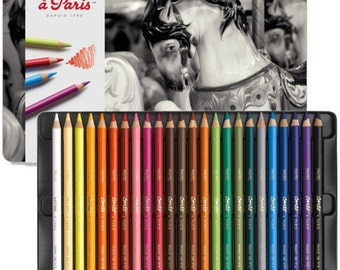 Pastel pencil case Conte 24 Paris