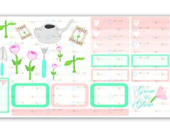Gardening Stickers, Planner stickers