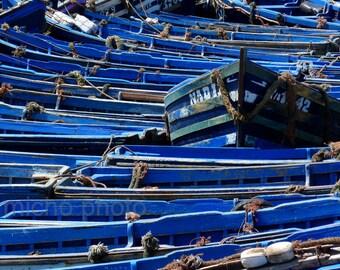 Boats wall decor,Blue Fine Art Print,Blue Photography,Serenity photo,Calm Home decor,Blue Wall Art,Boats Fine Art,Bathroom Print