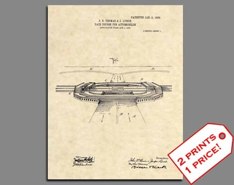 Patent Art - NASCAR Racetrack Art Patent Prints - Vintage NASCAR Wall Art Patent Prints - Car Racing Patent Poster - Race Track Prints - 489