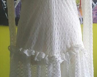 Fairy Lace dress, Art dress, Handmade dress, White dress