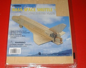 NASA Space Shuttle vintage 3D wooden puzzle rare collectible USA new old store stock
