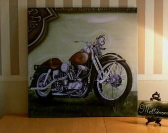 1965 Harley Bike art print painting Mattiesson