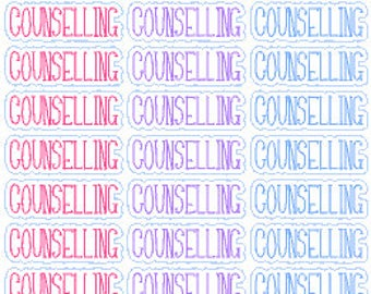 COUNSELLING // Happy Planner // Erin Condren // Personal // Stickers