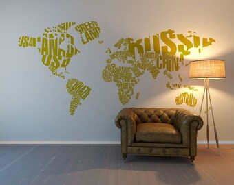 world map sticker sticker wall art vinyl stickers for walls wall design stickers - Design Stickers For Walls