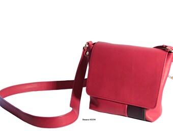 Small satchel leather mid rigid flexible mi
