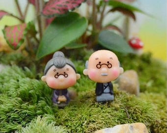 Fairy Garden grandfather and grandmother (2pcs/set)